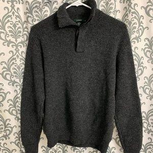 Men's J. Crew lambs wool sweater.